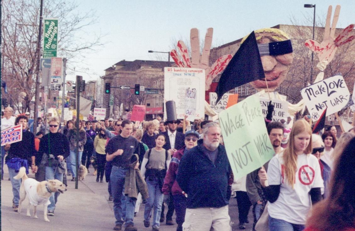Colorado protests against Iraq war, 2001 & 2002.