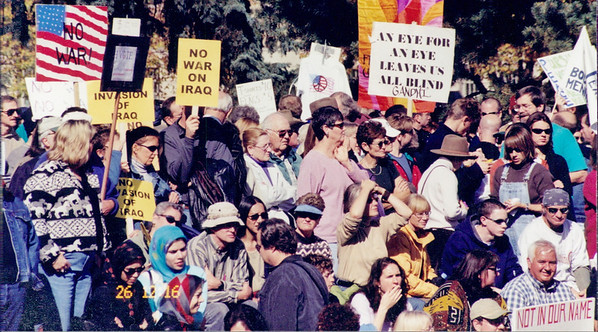 Anti Iraq war protest 2001-02 (10)