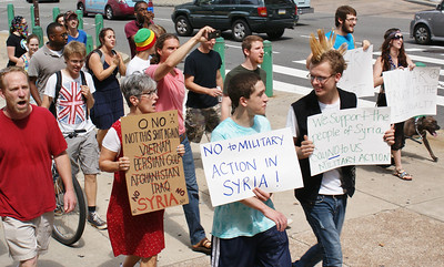 Anti Syria war protest - Philadelphia '13 (7)