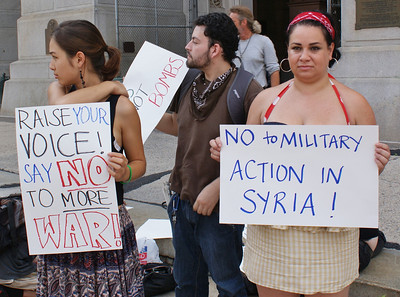 Anti Syria war protest - Philadelphia '13 (18)