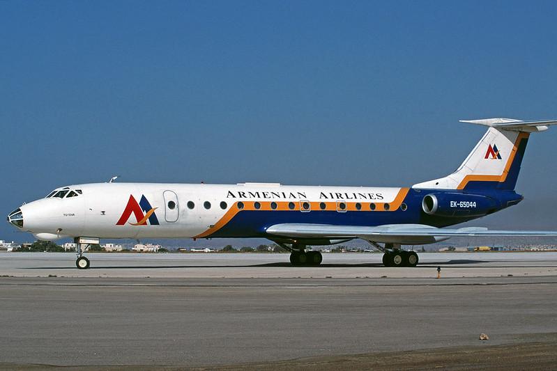 "EK-65044 Tupolev Tu-134A-3 ""Armenian Airlines"" c/n 49450 Athens-Hellenikon/LGAT/ATH 19-09-00 (35mm slide)"