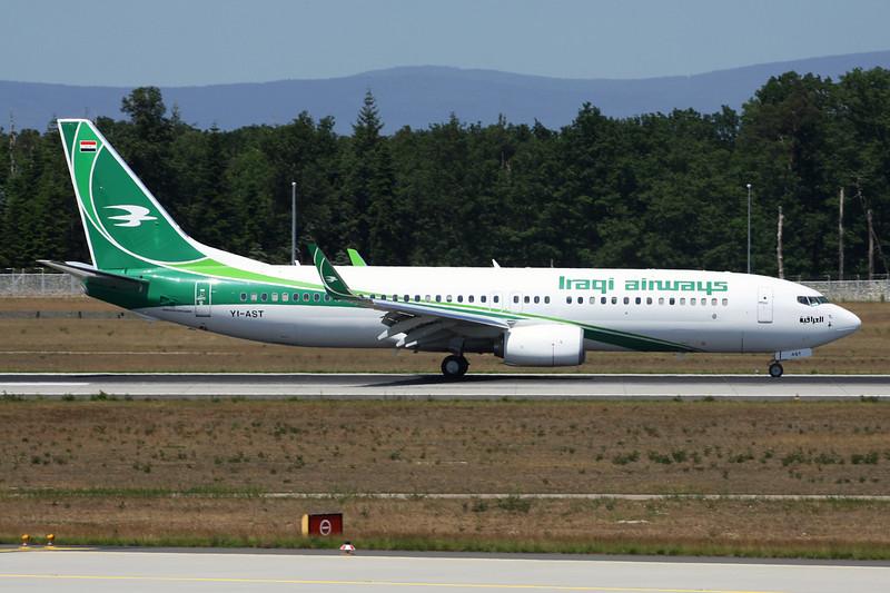 "YI-AST Boeing 737-81Z ""Iraqi Airways"" c/n 04-06-15"