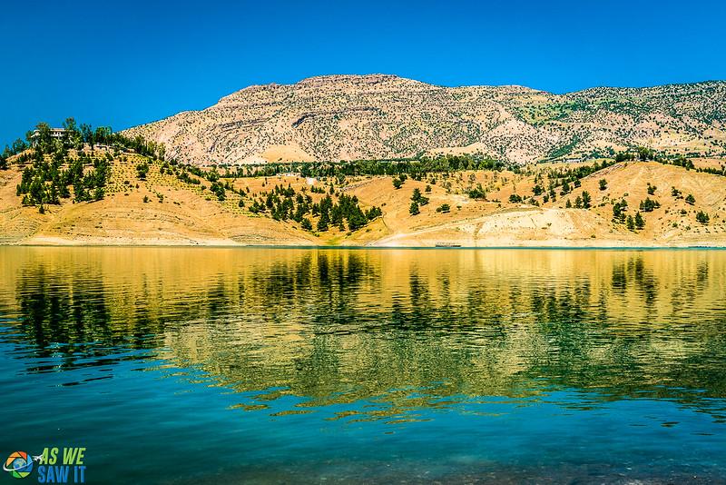 Dry hills behind Dukan Lake