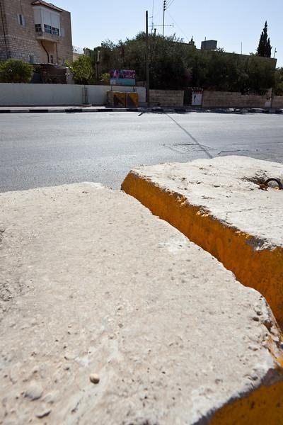 "Road Blocks separating different ""Area"" in Palestinian territory"
