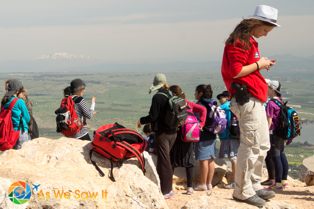 Israeli children protected by armed escorts... No mass school shootings in Israel!