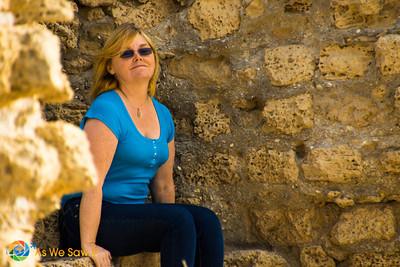 Among the ancient ruins of Ashdod, Israel.