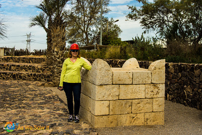 Altar in Tel Be'er Sheba, the city built by Abraham, Israel.