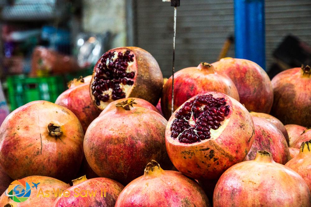 Pomegranates the size of small soccer balls
