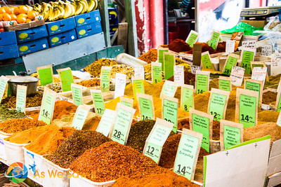 Spices.  The owner gave us a taste test of many.