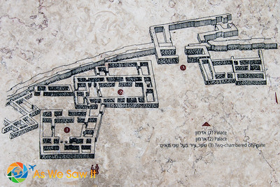 Diagram of the Assyrian ancient city