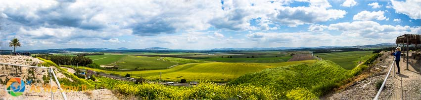 Panorama of the valley of Megiddo.