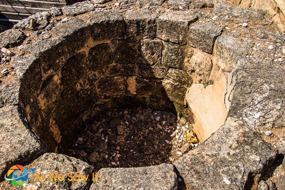 Ancient Mikveh (bathing pool) used to carry out ritual cleansing of the priests of Ba'al