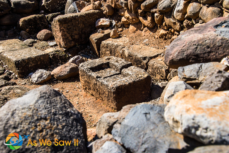 Ancient grinding stone at Tel Dan