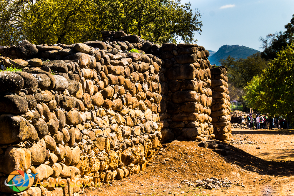 Remarkably well-preserved stone walls from the ancient city of Dan, 4000 years old