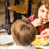 Mom and children enjoying lunch aling Balfur