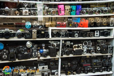 Old collection of cameras