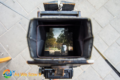Looking through an old 4x4 viewfinder