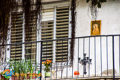 an Icon hanging on a balcony - Balfur