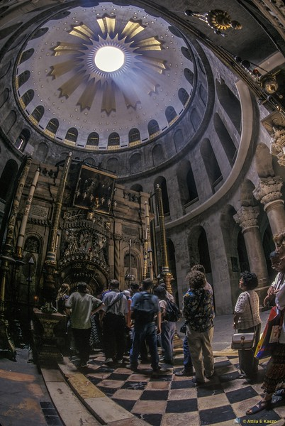 Jesus Tomb - Church of the Holy Sepulchre<br /> Jerusalem, Israel