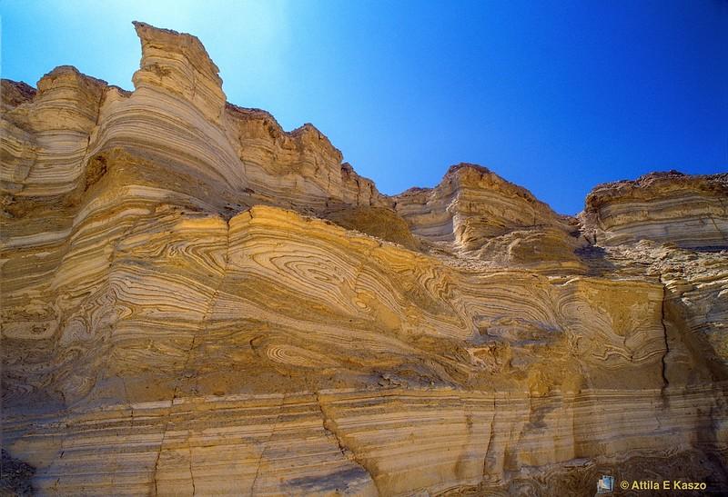 Gypsum Escarpment - Oxydisation<br /> Ammi'az Plateau, Sodom, Israel