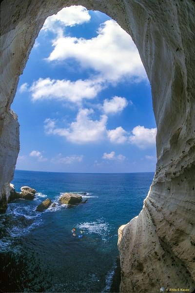 Grotto - SCUBA Divers<br /> Rosh Hanikara, Israel