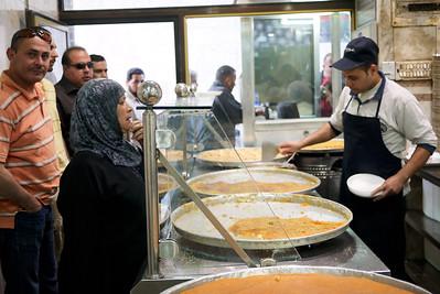 Habiba and knafeh in Amman, Jordan