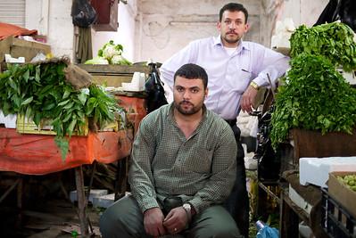 Stoic looks from these vendors in Amman, Jordan