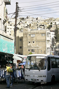 The rising hillsides of  Amman, Jordan