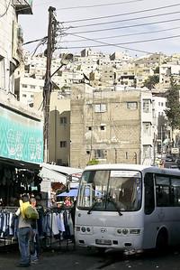 The rising hillsides of  Amman, Jordan