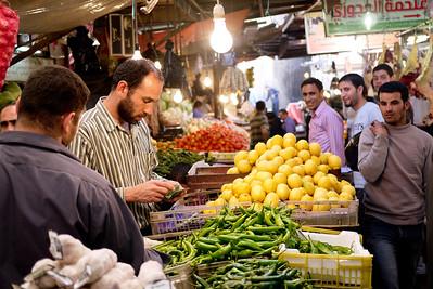 Shopping for fresh fruits and veggies in Amman, Jordan