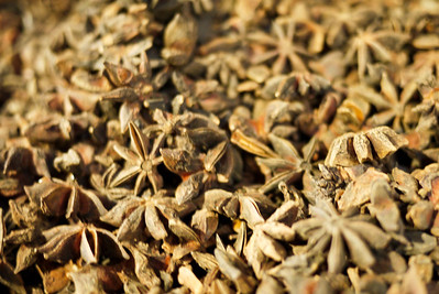 Star anise piled high at a shop in Amman, Jordan