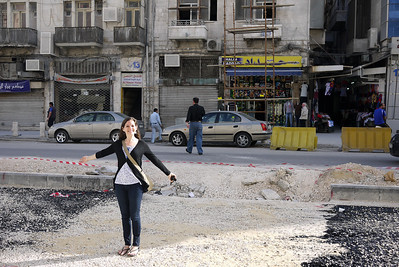 Jodi on the streets of Amman, Jordan