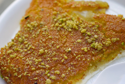 Delicious knafeh sweets in Amman, Jordan