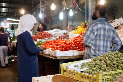 A veggie market in Amman, Jordan