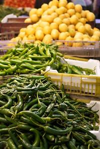 A fresh veggie market in Amman, Jordan