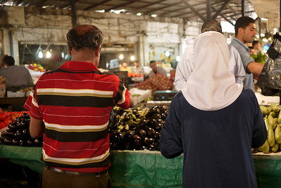 Vegetable shopping in Amman, Jordan
