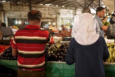 Vegetable shopping in Amman, Jordan