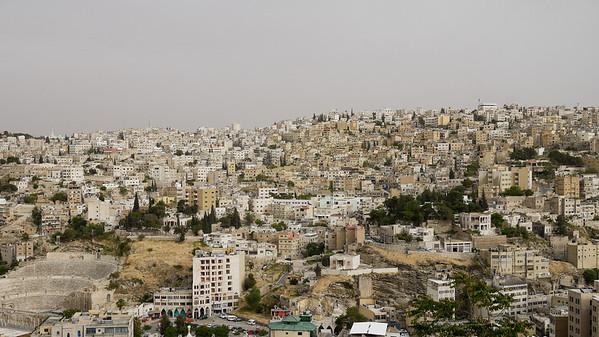 The city of Amman, from the Citadel Hill, Jordan