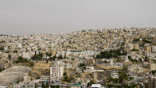 The city of Amman, from the Citadel Hill, Jordan