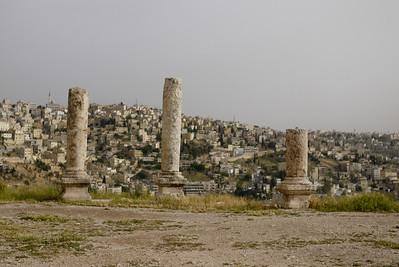 The Amman Citadel and Temple of Hercules sit with a gorgeous view of the surrounding city, Amman, Jordan.