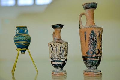 Pottery shards at the museum in the Amman Citadel, Jordan.