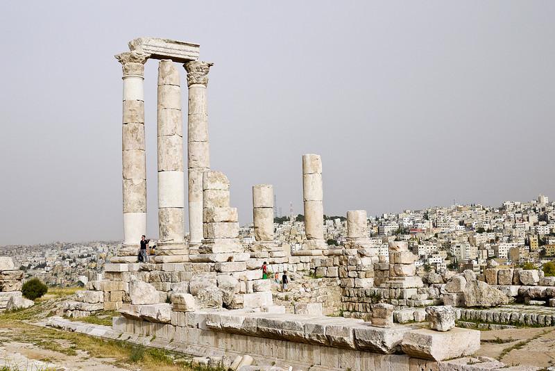 Citadel ruins on one of Amman's seven hills.