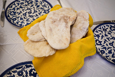 Pita bread deliciously complimenting most Jordanian meals.