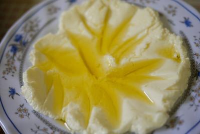 Labneh deliciousness as a mezze.