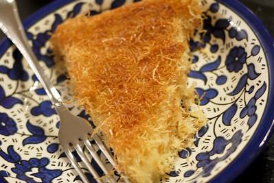 Knafe, a delicious Middle Eastern dessert