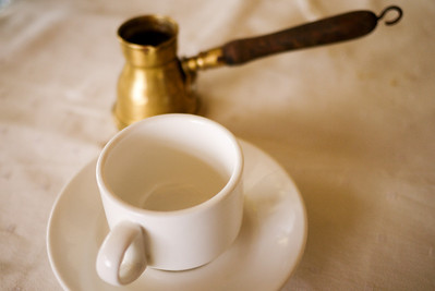 Classic Arabic coffee served hot and fresh.