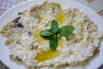 Moutabel topped with fresh and delicious olive oil