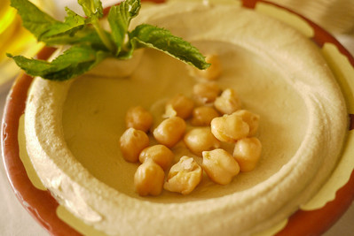 Hummus, a classic dish throughout Jordan and the Middle East