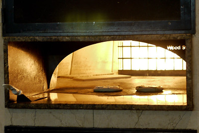 A Manakeesh breakfast  baking in the hot oven.