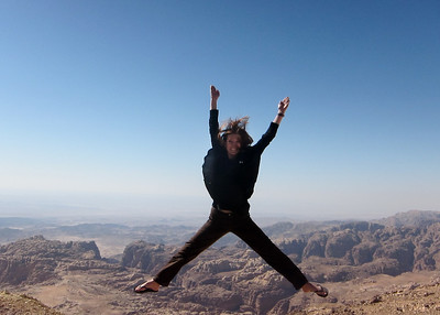 A starfish jump over the deserts in Jordan.
